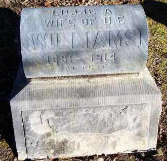 WILLIAMS, LILLIE A - Crawford County, Arkansas | LILLIE A WILLIAMS - Arkansas Gravestone Photos
