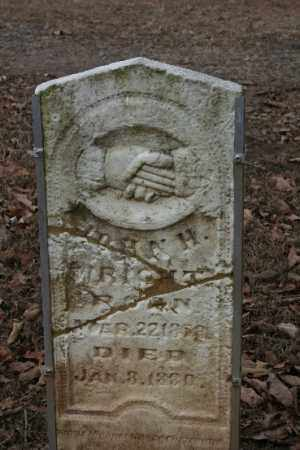 WRIGHT, JOHN H - Crawford County, Arkansas | JOHN H WRIGHT - Arkansas Gravestone Photos