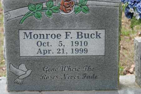 BUCK, MONROE F - Crawford County, Arkansas | MONROE F BUCK - Arkansas Gravestone Photos