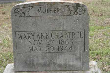 CRABTREE, MARY ANN - Crawford County, Arkansas | MARY ANN CRABTREE - Arkansas Gravestone Photos