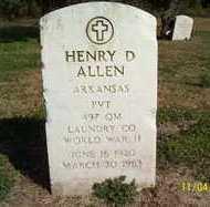 ALLEN, HENRY D. - Crittenden County, Arkansas | HENRY D. ALLEN - Arkansas Gravestone Photos