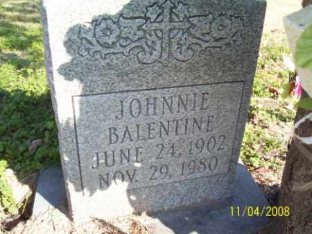 BALENTINE, JOHNNIE - Crittenden County, Arkansas | JOHNNIE BALENTINE - Arkansas Gravestone Photos