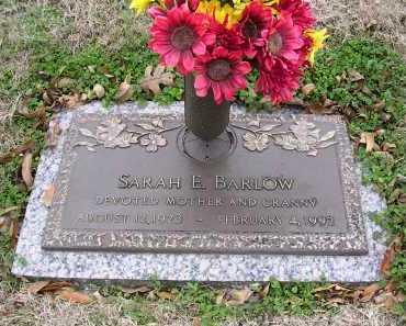 BARLOW, SARAH E - Crittenden County, Arkansas | SARAH E BARLOW - Arkansas Gravestone Photos