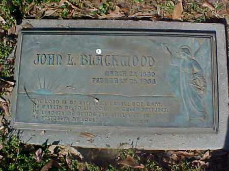 BLACKWOOD, JOHN L - Crittenden County, Arkansas | JOHN L BLACKWOOD - Arkansas Gravestone Photos