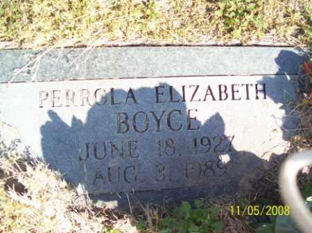 BOYCE, PERROLA ELIZABETH - Crittenden County, Arkansas | PERROLA ELIZABETH BOYCE - Arkansas Gravestone Photos
