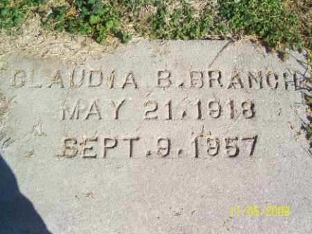 BRANCH, CLAUDIA B. - Crittenden County, Arkansas | CLAUDIA B. BRANCH - Arkansas Gravestone Photos