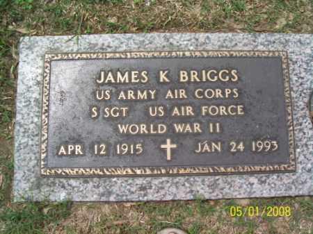 BRIGGS (VETERAN WWII), JAMES K - Crittenden County, Arkansas | JAMES K BRIGGS (VETERAN WWII) - Arkansas Gravestone Photos