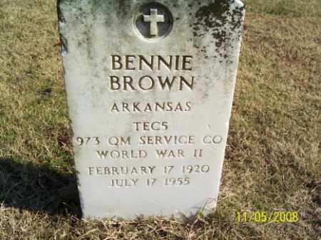 BROWN (VETERAN WWII), BENNIE - Crittenden County, Arkansas | BENNIE BROWN (VETERAN WWII) - Arkansas Gravestone Photos