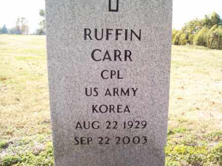 CARR (VETERAN KOR), RUFFIN - Crittenden County, Arkansas | RUFFIN CARR (VETERAN KOR) - Arkansas Gravestone Photos