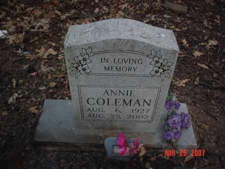 COLEMAN, ANNIE - Crittenden County, Arkansas | ANNIE COLEMAN - Arkansas Gravestone Photos