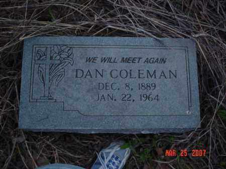 COLEMAN, DAN - Crittenden County, Arkansas | DAN COLEMAN - Arkansas Gravestone Photos