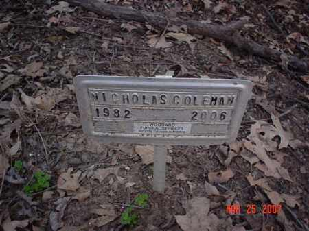 COLEMAN, NICHOLAS - Crittenden County, Arkansas | NICHOLAS COLEMAN - Arkansas Gravestone Photos