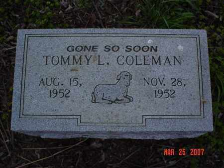 COLEMAN, TOMMY L. - Crittenden County, Arkansas | TOMMY L. COLEMAN - Arkansas Gravestone Photos