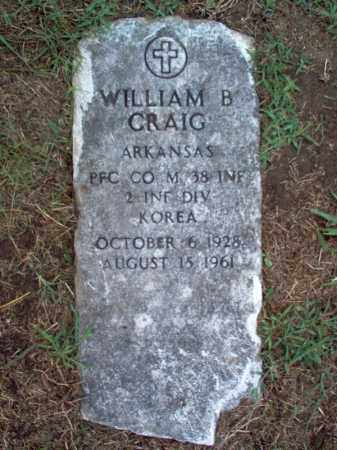 CRAIG (VETERAN KOR), WILLIAM B - Crittenden County, Arkansas | WILLIAM B CRAIG (VETERAN KOR) - Arkansas Gravestone Photos