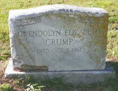 CRUMP, GWENDOLYN - Crittenden County, Arkansas | GWENDOLYN CRUMP - Arkansas Gravestone Photos