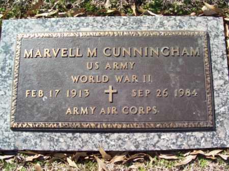 CUNNINGHAM (VETERAN WWII), MARVELL M - Crittenden County, Arkansas | MARVELL M CUNNINGHAM (VETERAN WWII) - Arkansas Gravestone Photos
