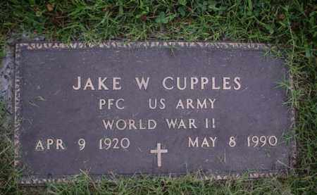 CUPPLES (VETERAN WWII), JAKE W - Crittenden County, Arkansas | JAKE W CUPPLES (VETERAN WWII) - Arkansas Gravestone Photos