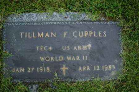 CUPPLES, TILLMAN F. - Crittenden County, Arkansas | TILLMAN F. CUPPLES - Arkansas Gravestone Photos