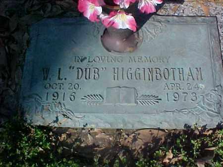 "HIGGINBOTHAM, W K ""DUB"" - Crittenden County, Arkansas   W K ""DUB"" HIGGINBOTHAM - Arkansas Gravestone Photos"