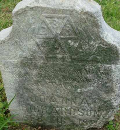 RICHARDSON, JOANNA - Crittenden County, Arkansas | JOANNA RICHARDSON - Arkansas Gravestone Photos