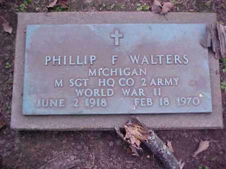WALTERS (VETERAN WWII), PHILLIP F - Crittenden County, Arkansas | PHILLIP F WALTERS (VETERAN WWII) - Arkansas Gravestone Photos