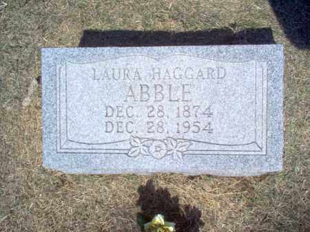 HAGGARD ABBLE, LAURA - Cross County, Arkansas | LAURA HAGGARD ABBLE - Arkansas Gravestone Photos