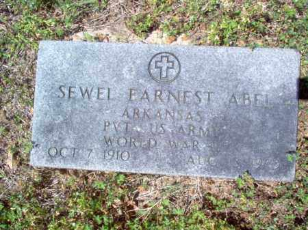 ABEL (VETERAN WWII), SEWEL EARNEST - Cross County, Arkansas | SEWEL EARNEST ABEL (VETERAN WWII) - Arkansas Gravestone Photos