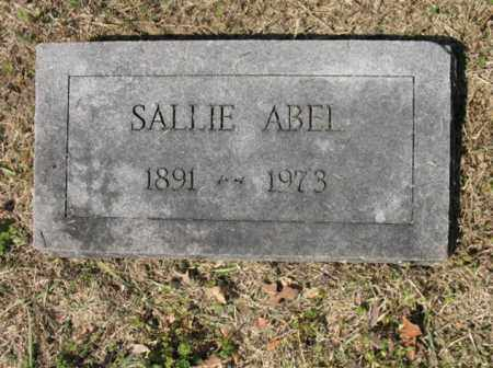 ABEL, SALLIE - Cross County, Arkansas | SALLIE ABEL - Arkansas Gravestone Photos