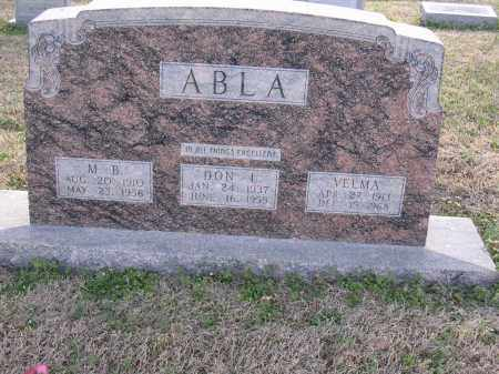 ABLA, M B - Cross County, Arkansas | M B ABLA - Arkansas Gravestone Photos