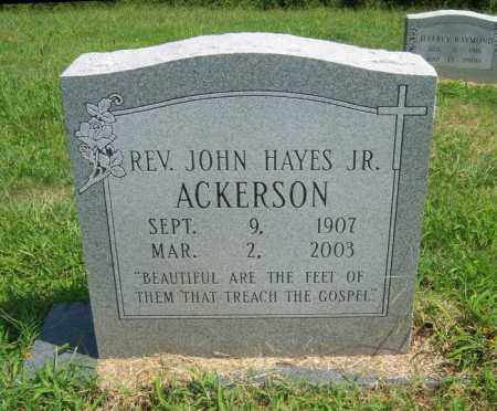 ACKERSON, JR, REV JOHN HAYES - Cross County, Arkansas | REV JOHN HAYES ACKERSON, JR - Arkansas Gravestone Photos