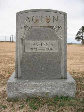 ACTON, CHARLES A - Cross County, Arkansas | CHARLES A ACTON - Arkansas Gravestone Photos