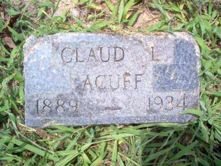 ACUFF, CLAUD L - Cross County, Arkansas | CLAUD L ACUFF - Arkansas Gravestone Photos
