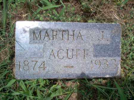 ACUFF, MARTHA J - Cross County, Arkansas | MARTHA J ACUFF - Arkansas Gravestone Photos