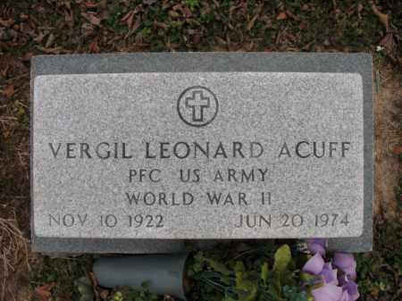 ACUFF (VETERAN WWII), VERGIL LEONARD - Cross County, Arkansas | VERGIL LEONARD ACUFF (VETERAN WWII) - Arkansas Gravestone Photos