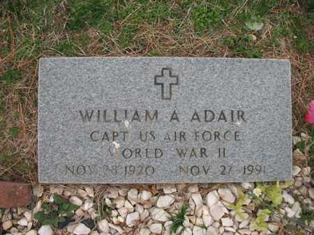ADAIR (VETERAN WWII), WILLIAM ARCHIE - Cross County, Arkansas | WILLIAM ARCHIE ADAIR (VETERAN WWII) - Arkansas Gravestone Photos