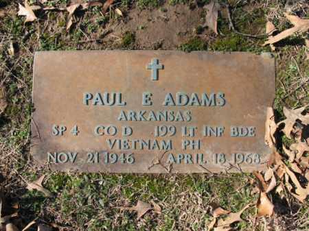 ADAMS (VETERAN VIET), PAUL E - Cross County, Arkansas | PAUL E ADAMS (VETERAN VIET) - Arkansas Gravestone Photos