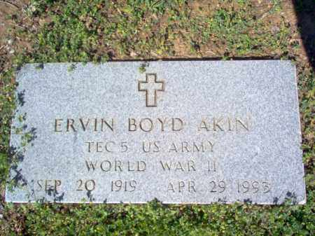 AKIN (VETERAN WWII), ERVIN BOYD - Cross County, Arkansas | ERVIN BOYD AKIN (VETERAN WWII) - Arkansas Gravestone Photos