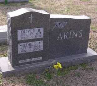 AKINS, MILDRED M - Cross County, Arkansas | MILDRED M AKINS - Arkansas Gravestone Photos