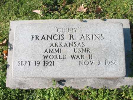 "AKINS (VETERAN WWII), FRANCIS R ""CUBBY"" - Cross County, Arkansas | FRANCIS R ""CUBBY"" AKINS (VETERAN WWII) - Arkansas Gravestone Photos"