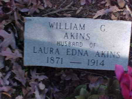 AKINS, WILLIAM G - Cross County, Arkansas | WILLIAM G AKINS - Arkansas Gravestone Photos