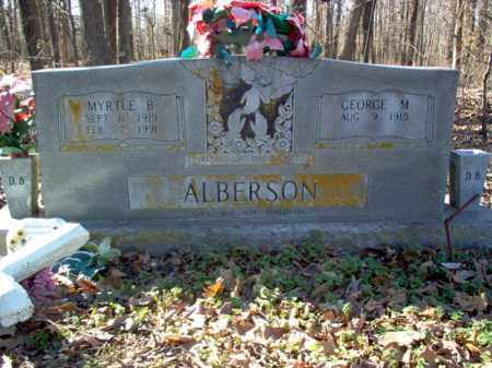 ALBERSON, MYRTLE B - Cross County, Arkansas | MYRTLE B ALBERSON - Arkansas Gravestone Photos
