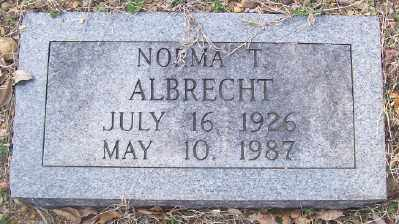 ALBRECHT, NORMA T. - Cross County, Arkansas | NORMA T. ALBRECHT - Arkansas Gravestone Photos