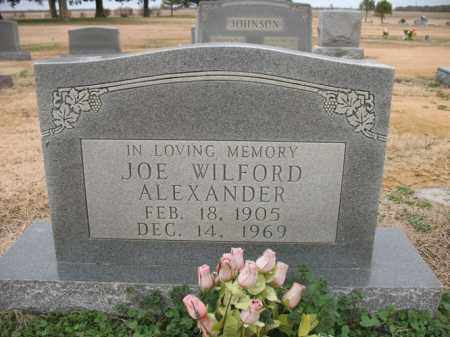 ALEXANDER, JOE WILFORD - Cross County, Arkansas | JOE WILFORD ALEXANDER - Arkansas Gravestone Photos