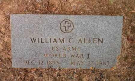 ALLEN  (VETERAN WWI), WILLIAM C - Cross County, Arkansas | WILLIAM C ALLEN  (VETERAN WWI) - Arkansas Gravestone Photos