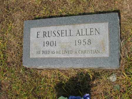 ALLEN, E RUSSEL - Cross County, Arkansas | E RUSSEL ALLEN - Arkansas Gravestone Photos