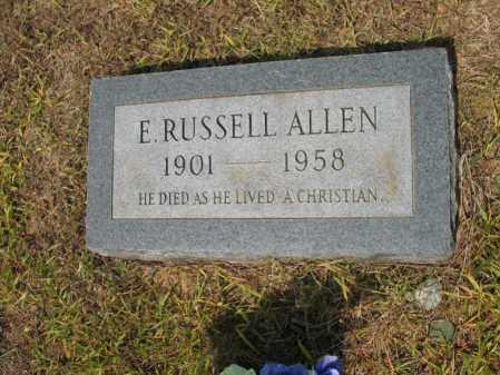ALLEN, E RUSSEL - Cross County, Arkansas   E RUSSEL ALLEN - Arkansas Gravestone Photos