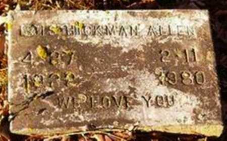 HICKMAN ALLEN, LOIS - Cross County, Arkansas | LOIS HICKMAN ALLEN - Arkansas Gravestone Photos