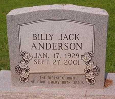 ANDERSON, BILLY JACK - Cross County, Arkansas | BILLY JACK ANDERSON - Arkansas Gravestone Photos