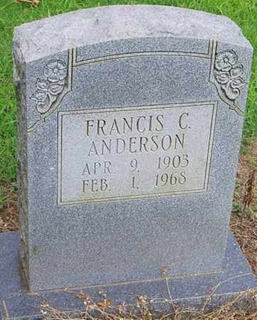 ANDERSON, FRANCIS C. - Cross County, Arkansas | FRANCIS C. ANDERSON - Arkansas Gravestone Photos