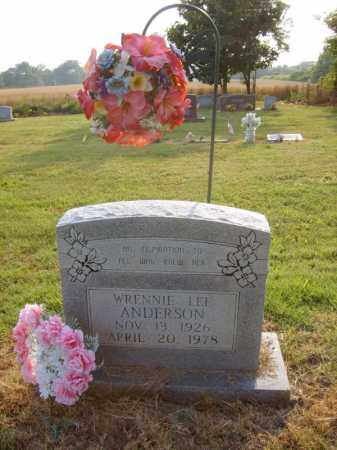 ANDERSON, WRENNIE LEE - Cross County, Arkansas | WRENNIE LEE ANDERSON - Arkansas Gravestone Photos